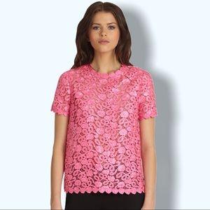 Kate Spade   Alexandria Top Pink Lace Medium Sz 8